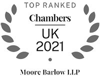 Moore Barlow LLP Top Ranked CHAMBERS UK 2021